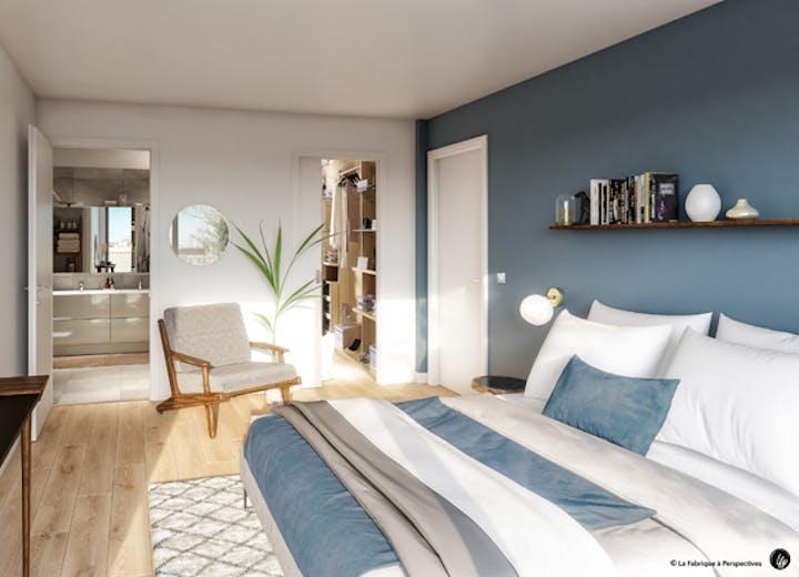 Ateliers Vaugirard chapitre 1 à Paris 15 : chambre d'un appartement
