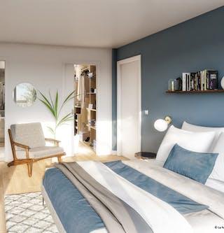 Chambre d'un appartement neuf de la résidence Ateliers Vaugirard chapitre 1 à Paris 15
