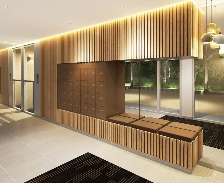 Hall d'entrée du programme immobilier neuf Paris Canal - 165 Rue de Paris à Bobigny