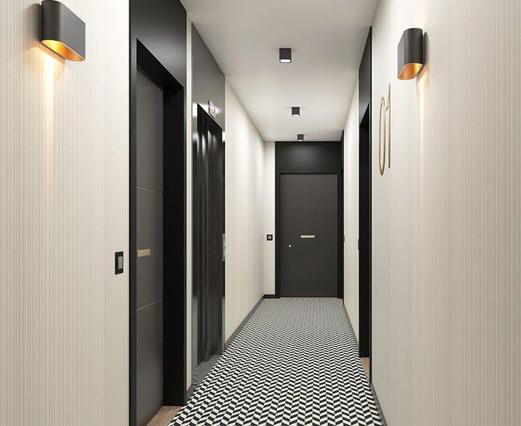Rue Edouard Renard à Pantin : palier d'étage