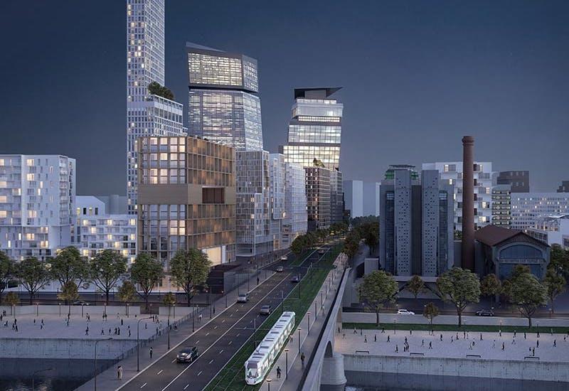 Le quartier Bruneseau dans la ZAC Paris Rive Gauche, où prend place le programme immobilier neuf Le Berlier