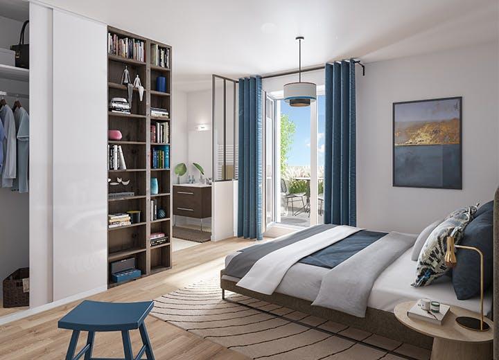 Chambre d'un appartement du programme immobilier à Hay-les-Roses