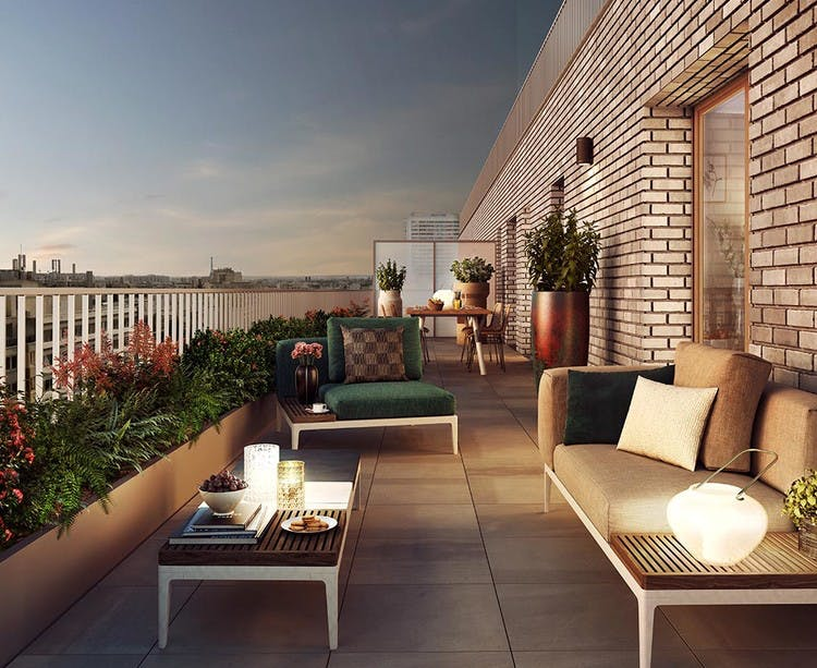 Appartement avec terrasse du programme immobilier neuf Rue Petit à Paris 19