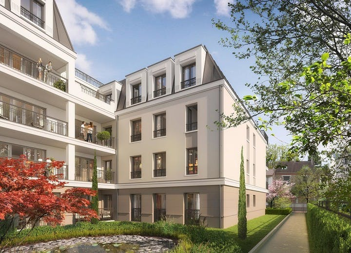 Jardin du programme immobilier neuf 31 rue Fernand Forest à Suresnes