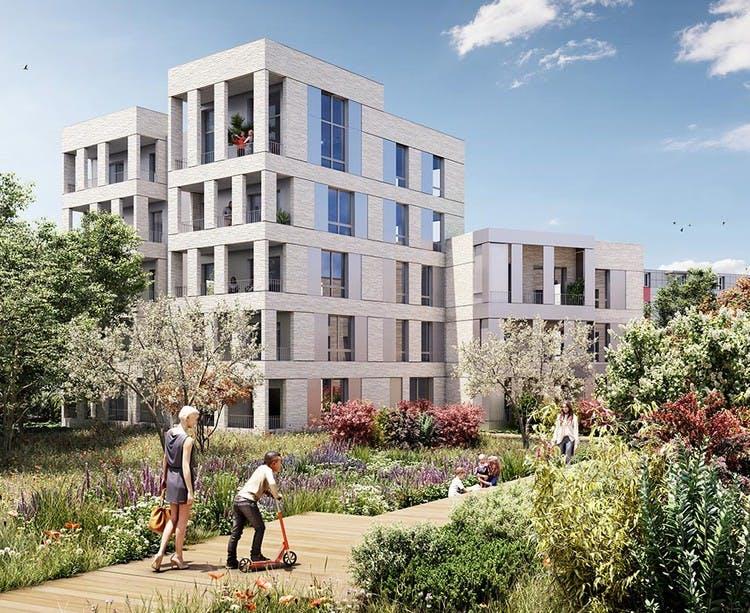 Jardin du programme immobilier neuf Allée du Colonel Fabien à Nanterre