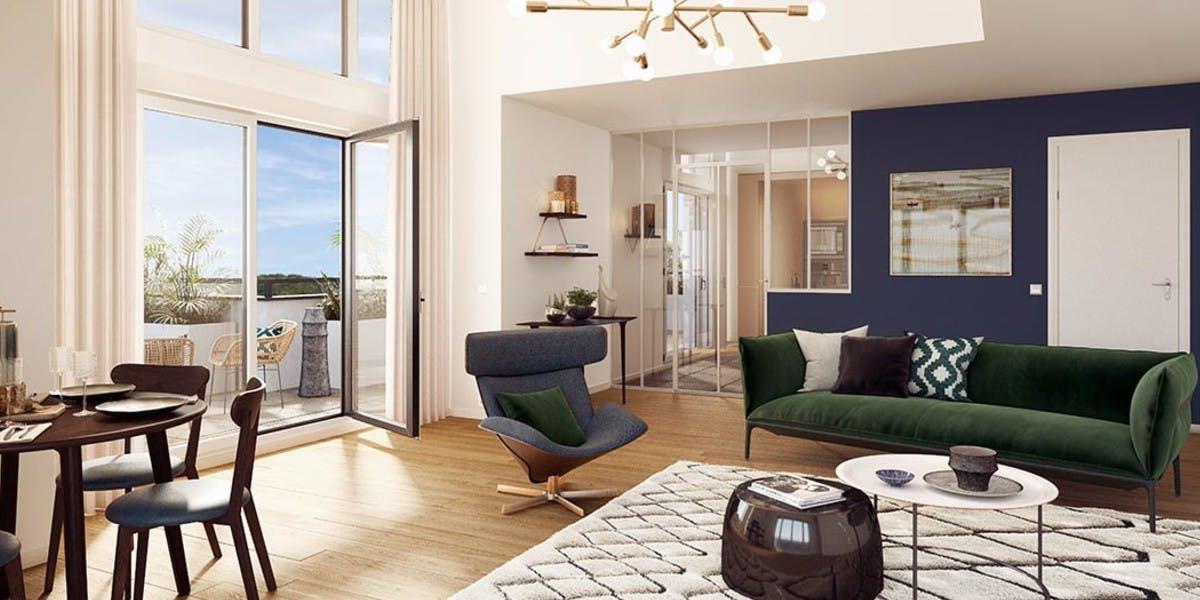 Séjour d'un appartement du programme neuf 60 Avenue Didier à Saint-Maur