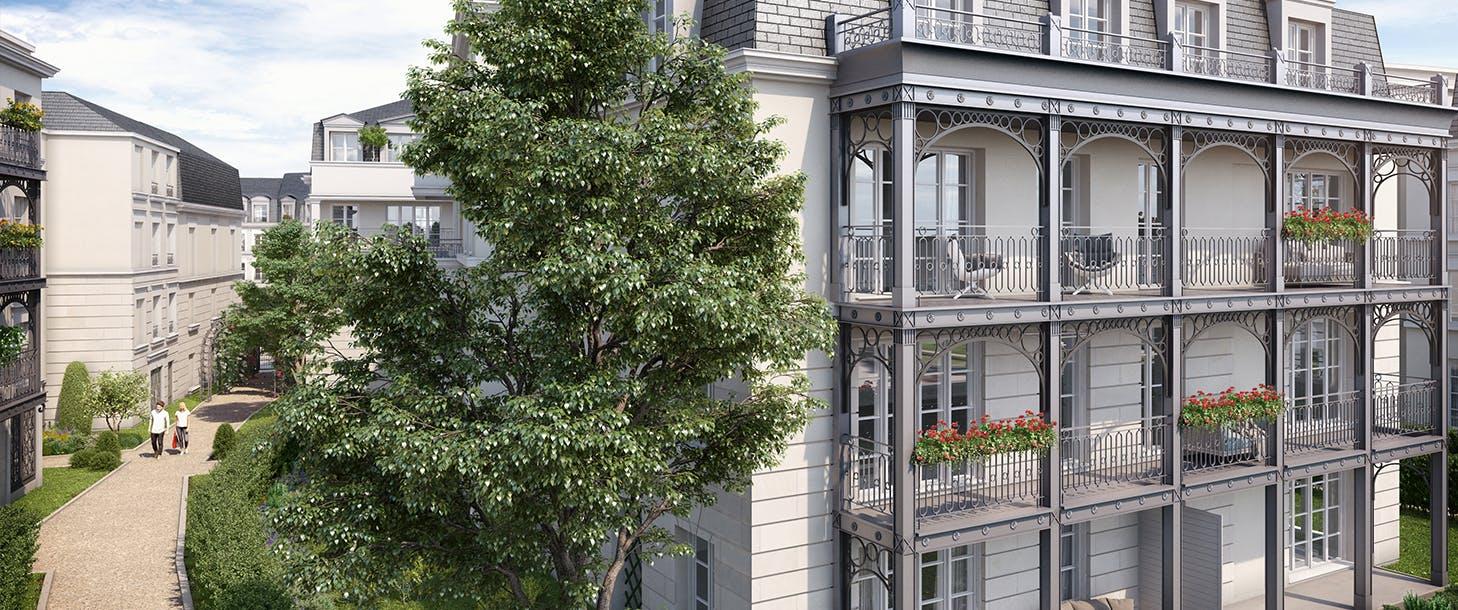 Facade arrière du programme immobilier neuf Quartier de la Roseraie à L'Haÿ-les-Roses