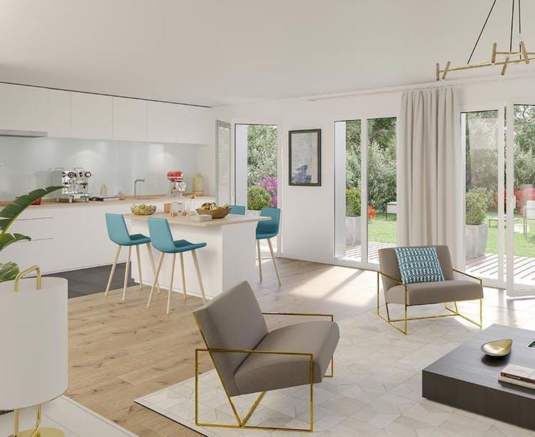 Appartement en rez-de-jardin du programme immobilier 7 rue de Tolbiac à Paris 13
