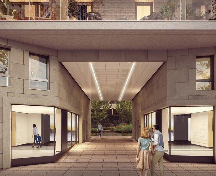 Porche du programme immobilier neuf 6 Rue Paul Héroult à Rueil-Malmaison