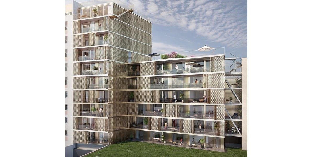 Jardin du programme immobilier neuf Ateliers Vaugirard chapitre 1 à Paris 15