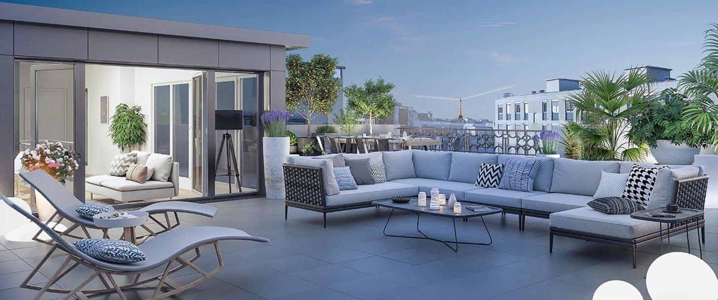 Appartement avec terrasse du programme immobilier 120 Danton à Levallois