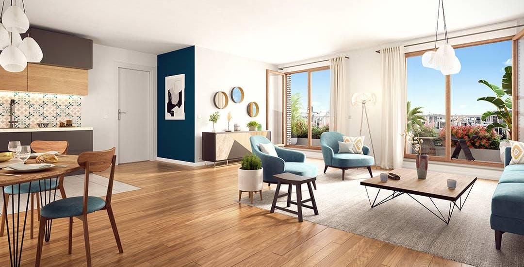 Appartement neuf à Paris 19 au sein du programme immobilier Rue Petit