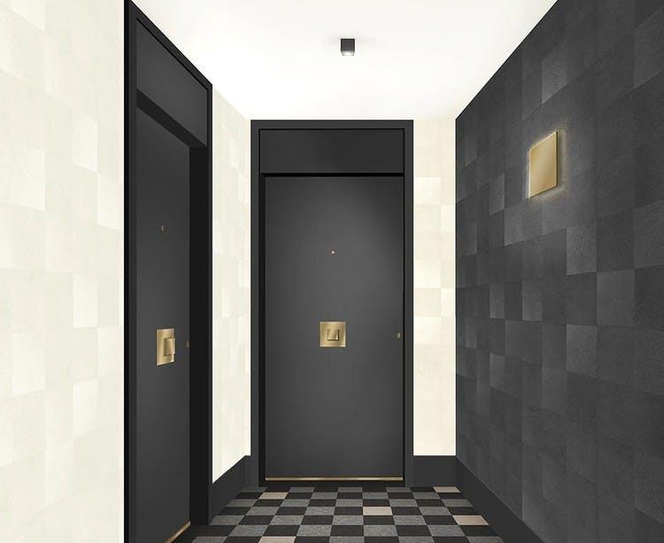 31 rue Fernand Forest à Suresnes : hall d'entrée de la résidence