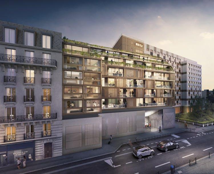 Le programme immobilier neuf Ateliers Vaugirard chapitre 1 à Paris 15 vu de nuit