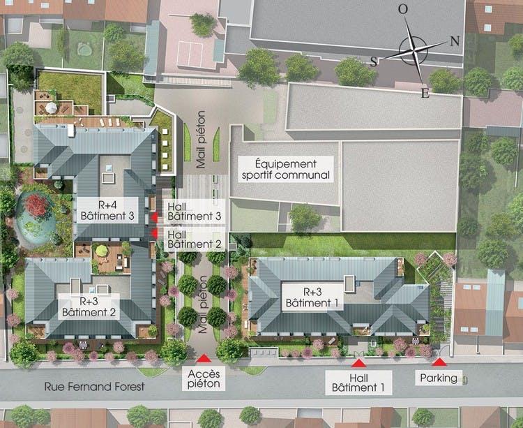 31 rue Fernand Forest à Suresnes : plan masse