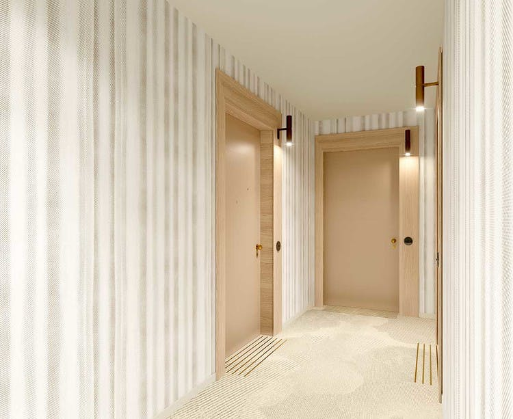 Programme immobilier 7 rue de Tolbiac à Paris 13 : palier d'étage