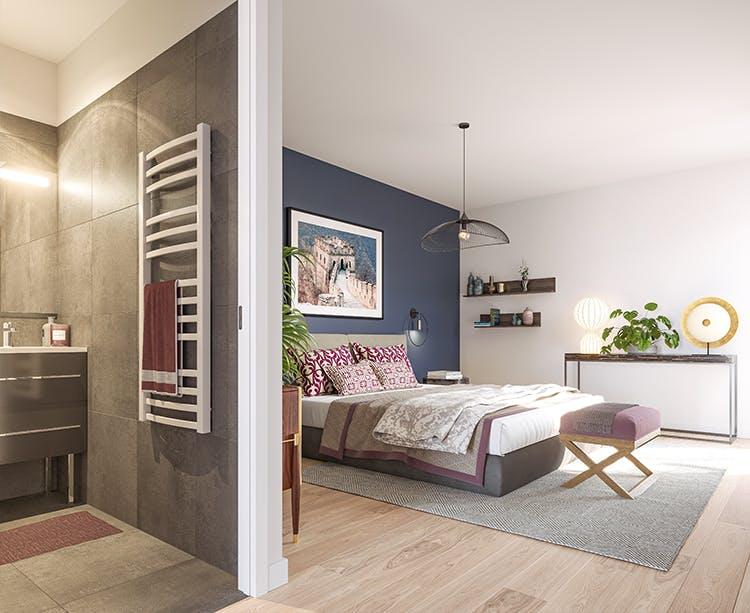Chambre du programme immobilier neuf Quartier de la Roseraie à L'Haÿ-les-Roses