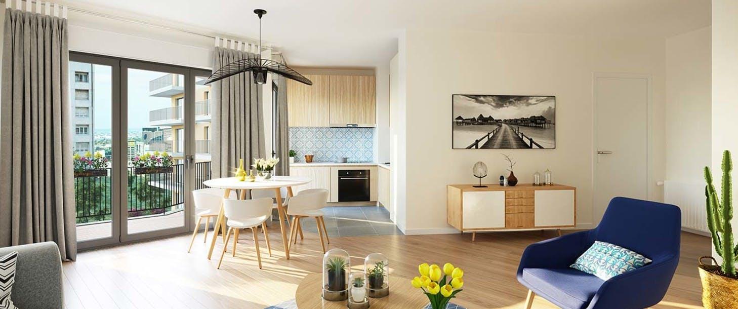 Appartement du programme immobilier neuf 1 Rue de Craïova à Nanterre