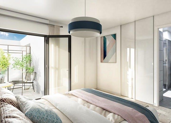 Chambre d'un appartement de la résidence 60 Avenue Didier à Saint-Maur
