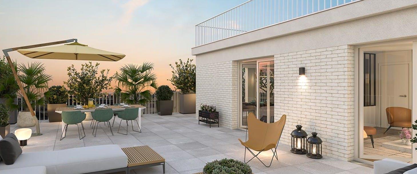 Programme neuf Rue Edouard Renard à Pantin  : terrasse
