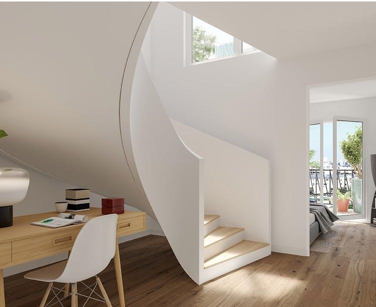 Duplex du programme immobilier 7 rue de Tolbiac à Paris 13