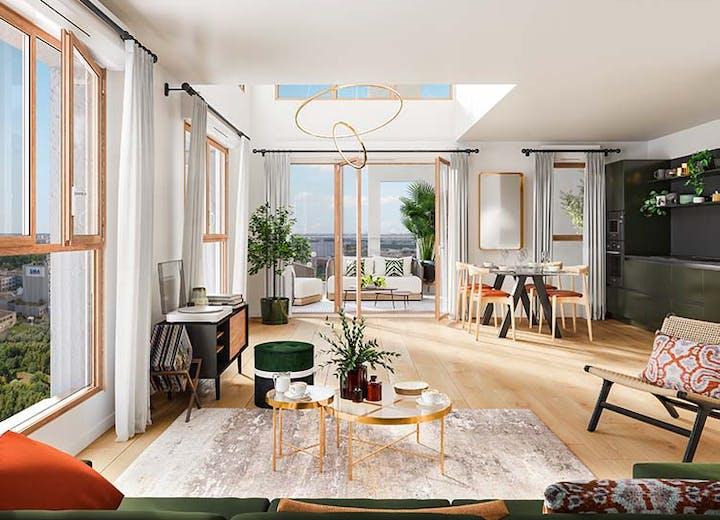 """Appartement du programme immobilier neuf """"Rue Vladimir Kramnik """" à Asnières-sur-Seine"""