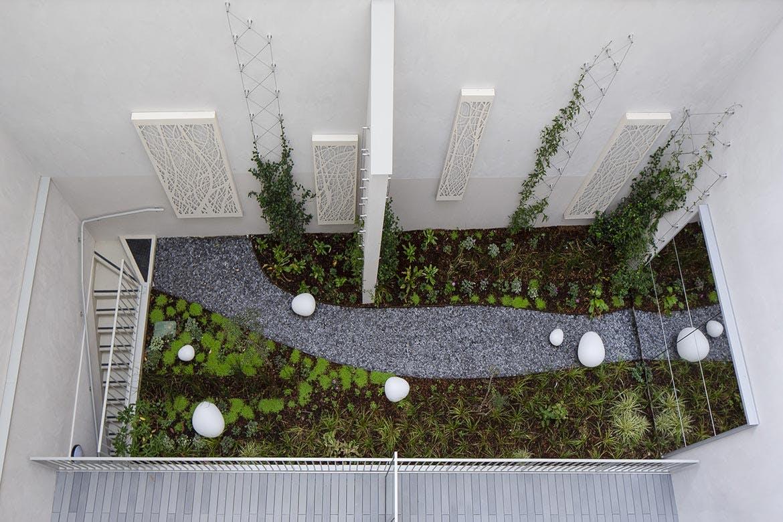 Le jardin du programme immobilier neuf 23 Crimée à Paris 19
