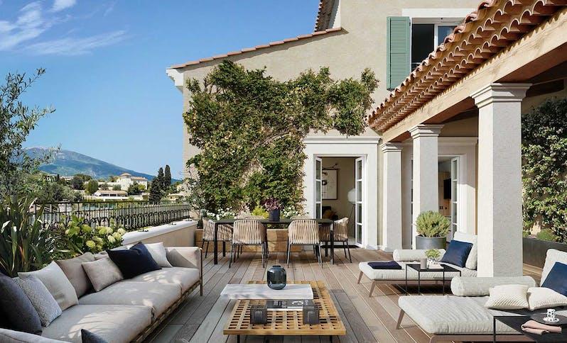 Chemin des Comtes de Provence au Rouret : terrasse SLIDER