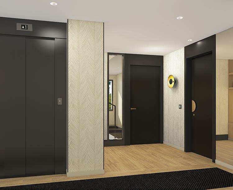 Palier d'étage du programme immobilier neuf Rue Claude Robert à Gennevilliers