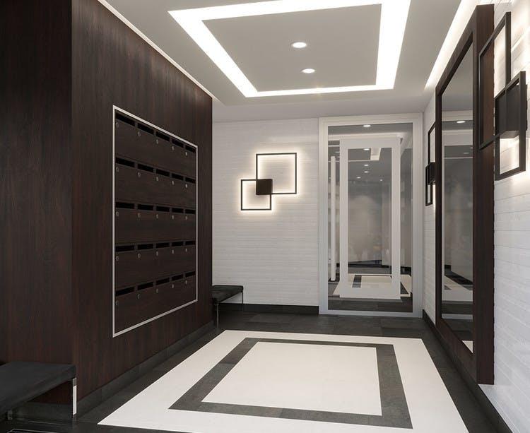 Hall d'entrée du programme immobilier neuf Place du Garde à Clamart