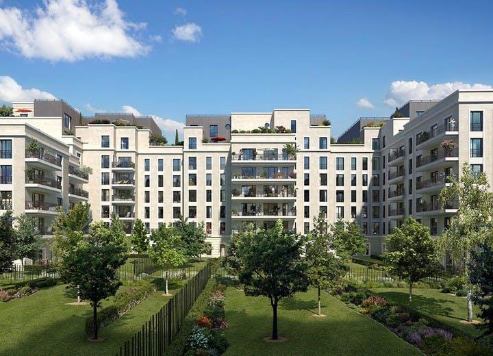 Jardin du programme immobilier neuf Rue Pablo Picasso à Saint-Ouen