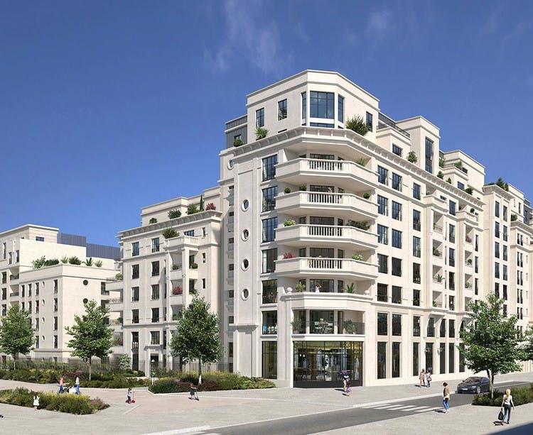 Rue Pablo Picasso à Saint-Ouen : bâtiment D