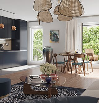 Salon du programme immobilier neuf quartier Paul Hochart à L'Haÿ-les-Roses