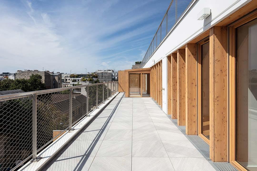 Appartement neuf avec terrasse et vue dégagée à Paris 11, résidence 9 Charrière
