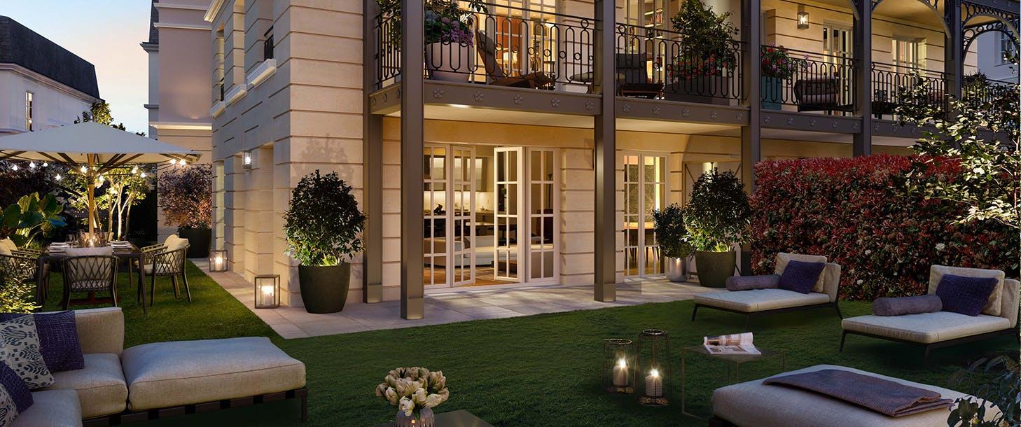 Jardin du programme immobilier neuf Quartier de la Roseraie à L'Haÿ-les-Roses