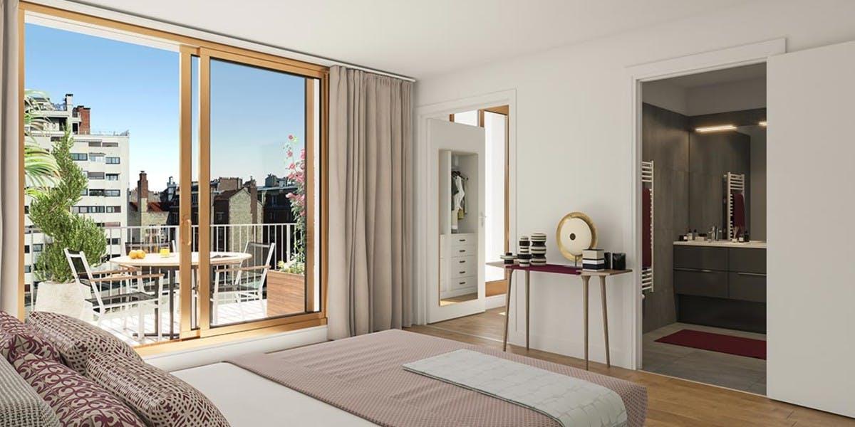 Chambre d'un appartement du programme immobilier Ateliers Vaugirard chapitre 2 à Paris 15