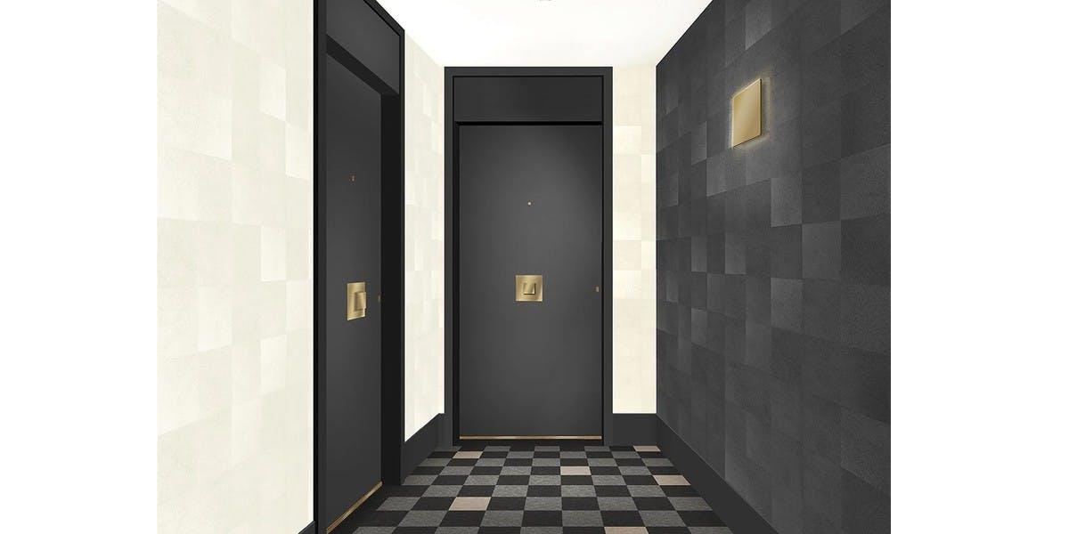 Palier d'étage de la résidence 31 rue Fernand Forest à Suresnes