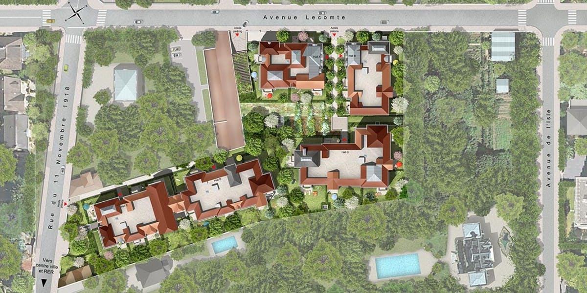 Avenue Lecomte à Villiers-sur-Marne : plan masse