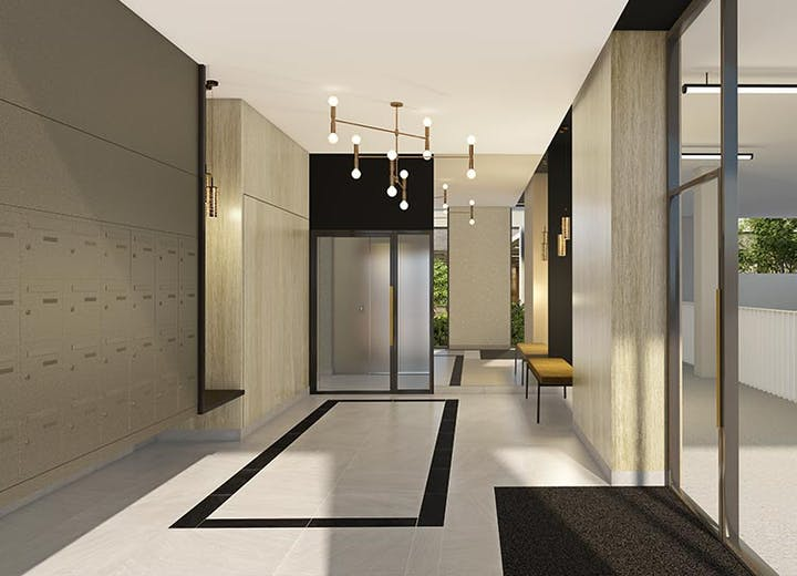 Hall d'entrée du programme immobilier neuf Rue Claude Robert à Gennevilliers