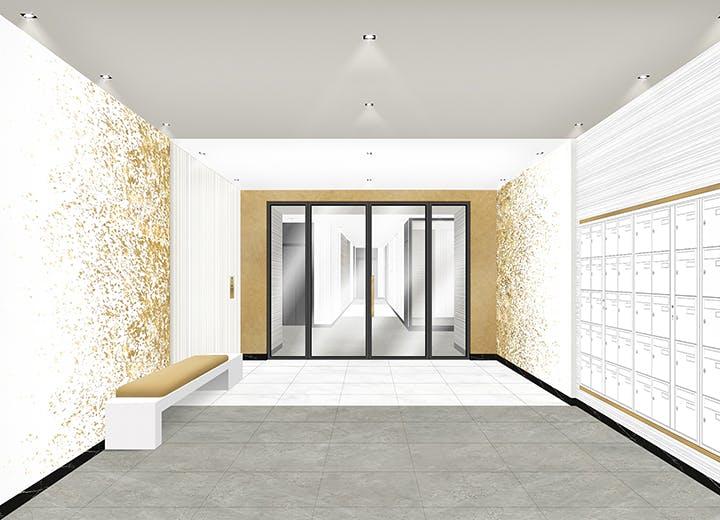 Hall du programme immobilier neuf 102 avenue Aristide Briand au Blanc-Mesnil