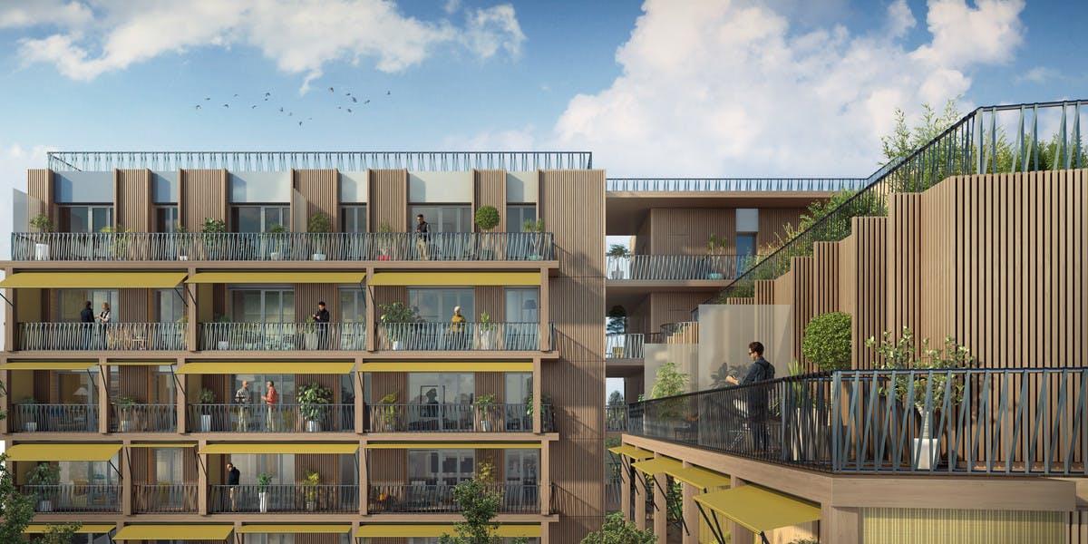 Programme immobilier 7 rue de Tolbiac à Paris 13 : coeur d'îlot