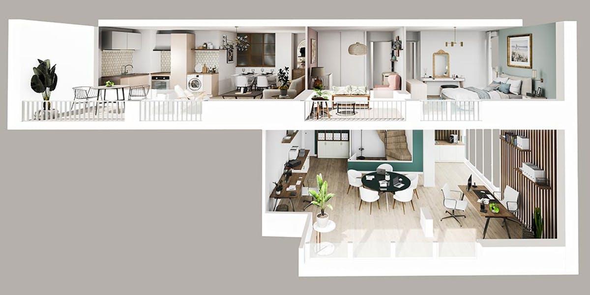 Appartement Soho du programme immobilier Rue Gustave Courbet à Bagneux
