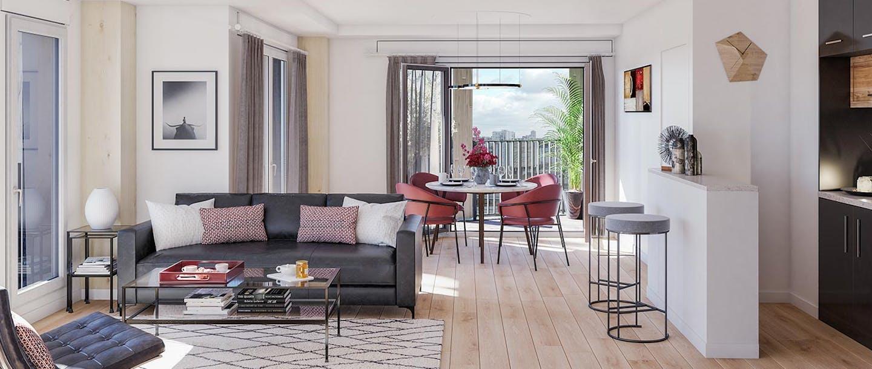 Appartement neuf du programme immobilier à Paris 13 Le Berlier