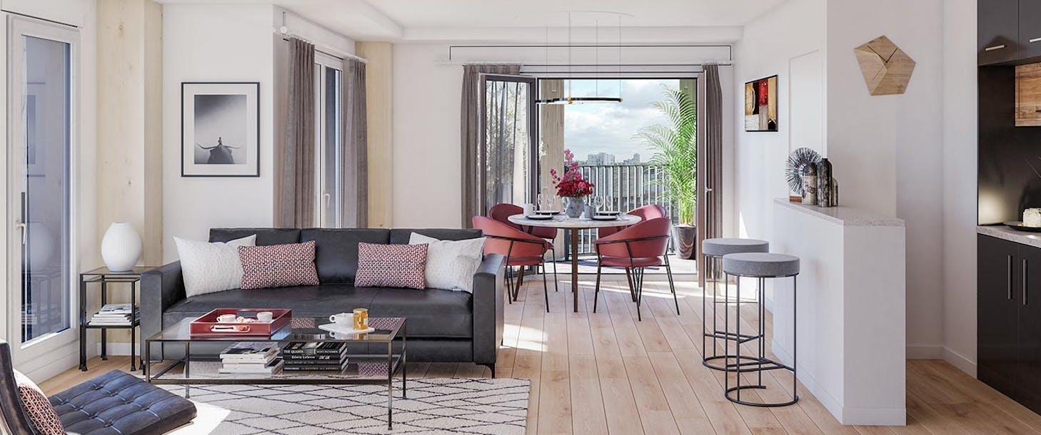 Appartement du programme immobilier neuf Le Berlier à Paris 13