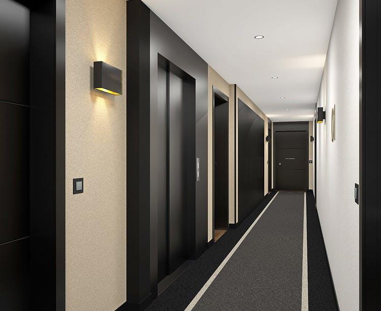 Palier d'étage du programme immobilier 164 Gabriel Péri à Rosny