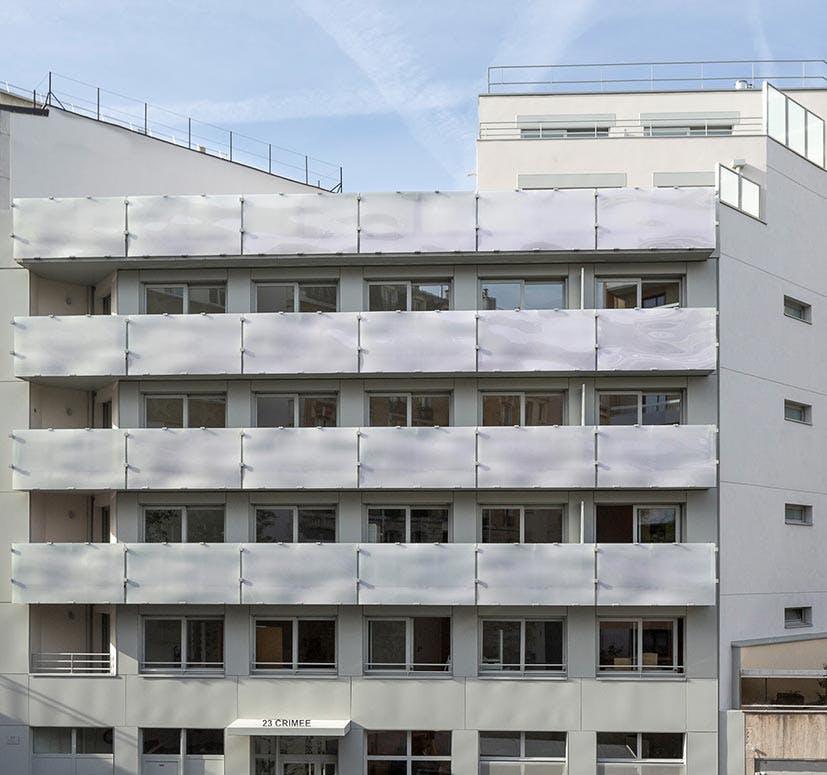 Livraison du programme immobilier neuf 23 Crimée à Paris 19