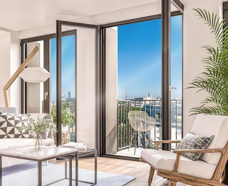Rue Agrippa d'Aubigné à Paris 4 Morland : appartement avec balcon