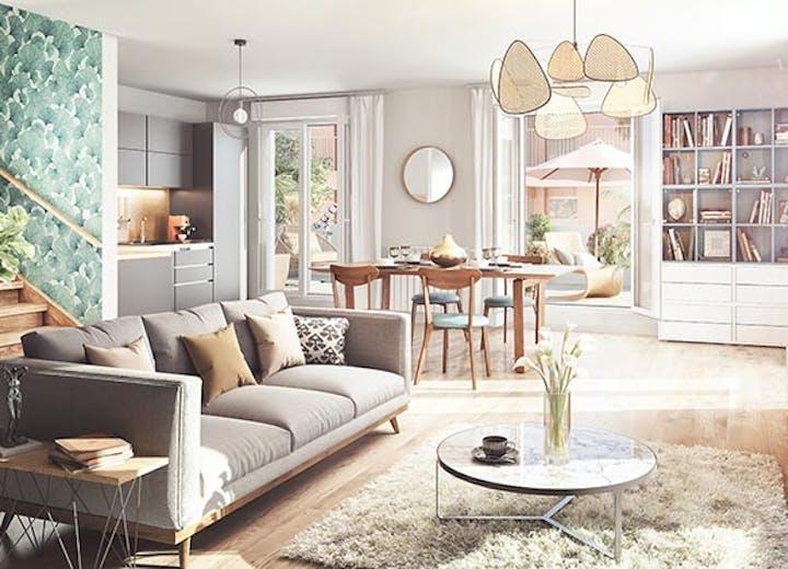 Appartement neuf en duplex du programme immobilier Rue Gustave Courbet à Bagneux