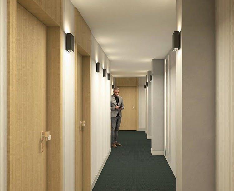 Programme immobilier Rue Agrippa d'Aubigné à Paris 4 : palier d'étage