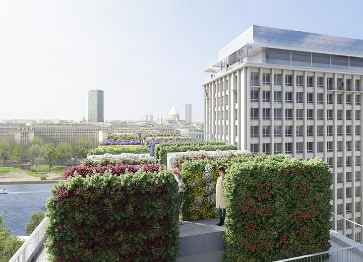 Programme immobilier Rue Agrippa d'Aubigné à Paris 4 : rooftop